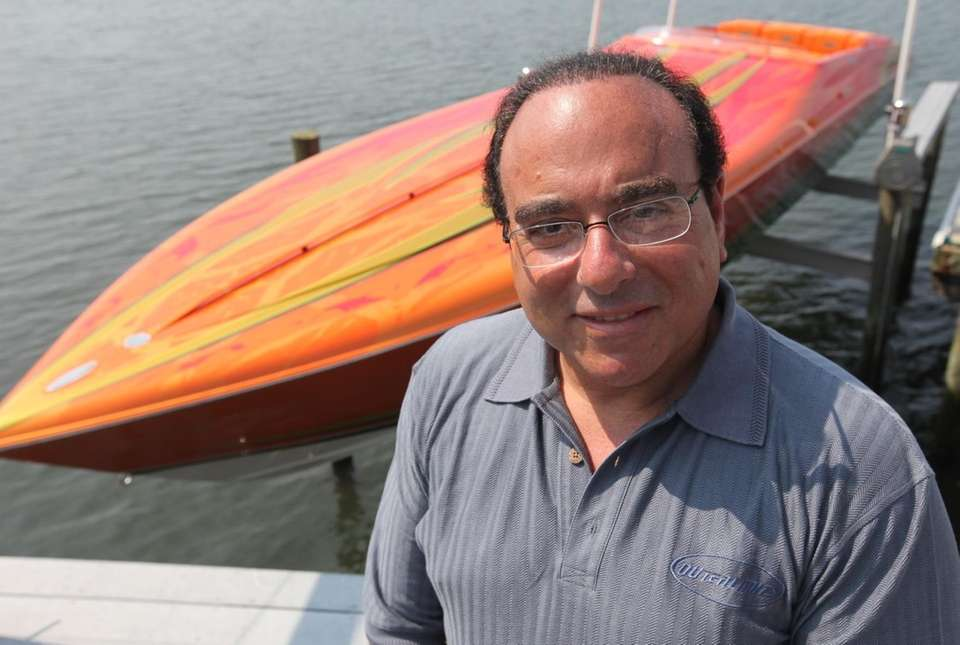 Joe Sgro, an offshore powerboat racer, poses with