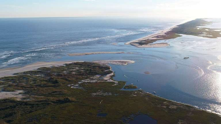 The breach on Fire Island, just south of