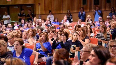 People flocked to a Massapequa school board meeting