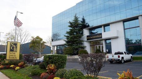 New York Community Bancorp's Westbury headquarters, seen on