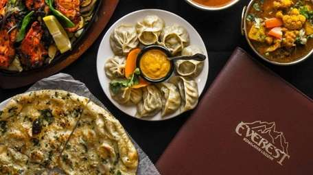 Among the Indian, Tibetan and Nepali dishes at