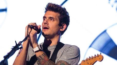 John Mayer performs on