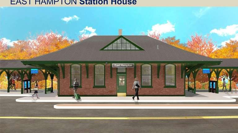 A rendering depicts suggested renovations for the exterior