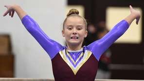 Catherine Lyden of Bay Shore/Islip competes on the