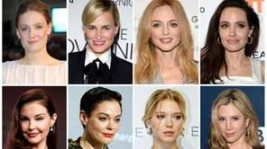 This combination photo shows actresses listed in alphabetical