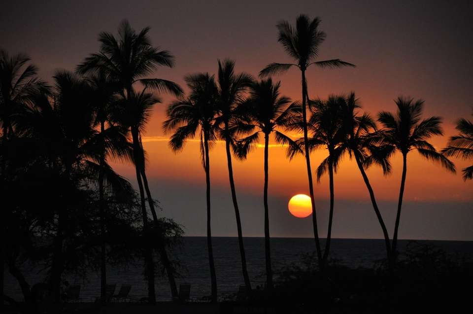 Waikoloa Beach sunset on the Island of Hawaii