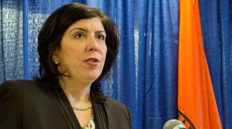 Nassau District Attorney Madeline Singas announces an aggressive