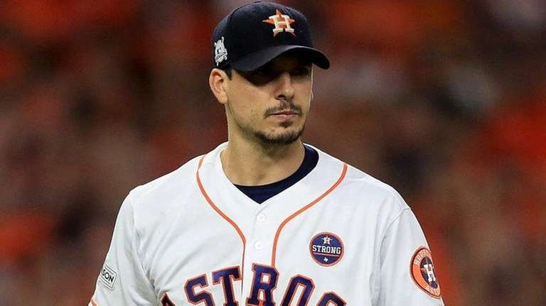 Charlie Morton of the Houston Astros against the