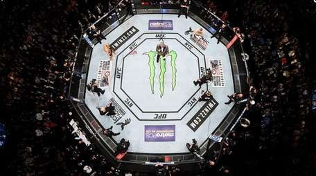 A general view of the Octagon during UFC