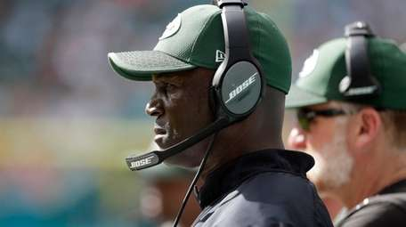 Jets head coach Todd Bowles watches his team