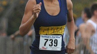 Katherine Lee of Shoreham-Wading River runs in the
