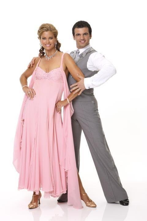 Dancer Tony Dovolani, right, partners with Kathy Ireland,