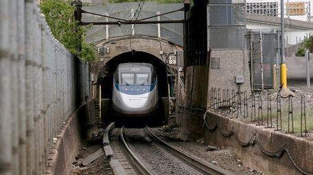 Amtrak train, East River Tunnel. Sept. 30 2014