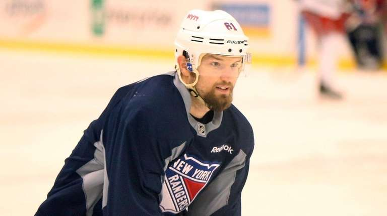 Rangers Rick Nash during Rangers practice at MSG