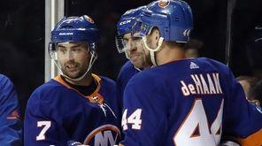 The Islanders' Jordan Eberle, John Tavaresand Calvin de
