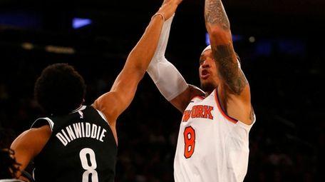 Michael Beasley of the New York Knicks puts