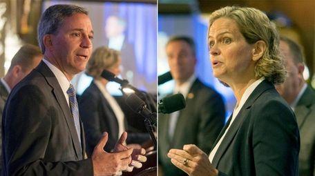 Nassau County executive candidates Republican Jack Martins and