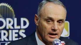 MLB commissioner Rob Manfred announces Saturday, Oct. 28,