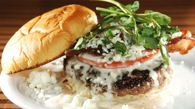 A burger at chef Bobby Flay's burger joint,