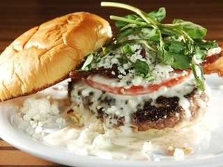 A burger at chef Bobby Flay's burger joint,