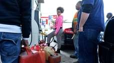 People line up hoping to get their gas