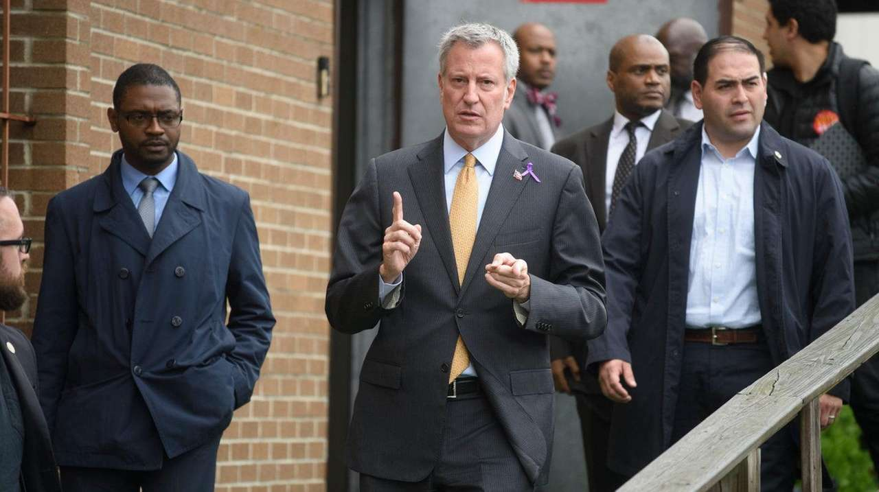 Mayor Bill de Blasio, seen here on Sunday,