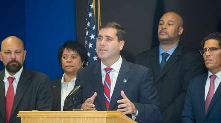Suffolk County Police Commissioner Timothy Sini at a