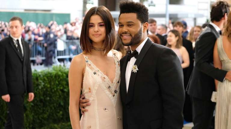 Selena Gomez, left, and The Weeknd, pictured on