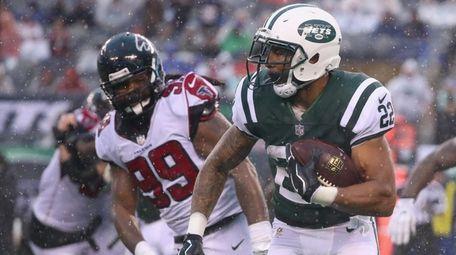 Running back Matt Forte of the Jets carries