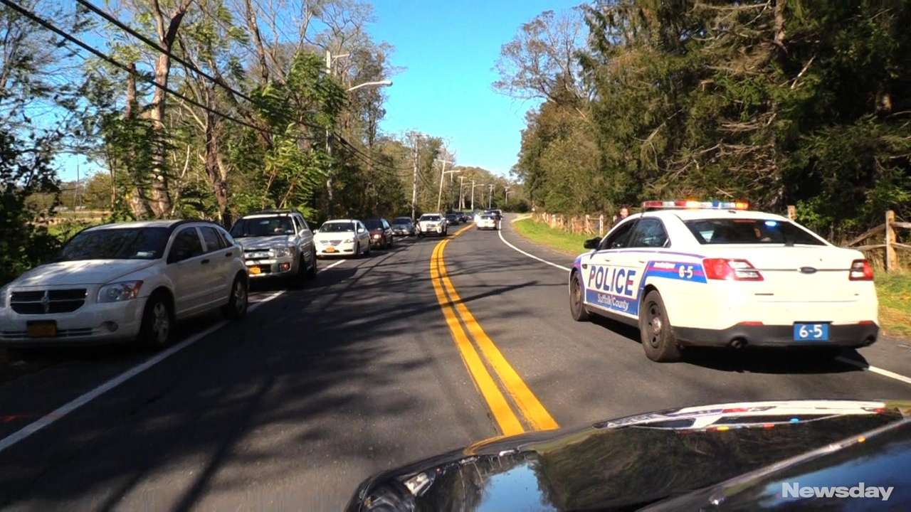 A Hauppauge woman led police on a miles-long