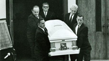 The coffin bearing the body of Katherine Kolodziej,