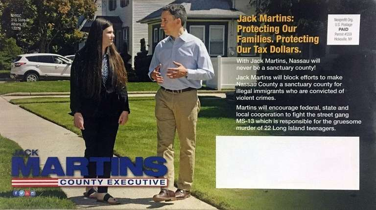 Campaign mailer sponsored by the New York Republican