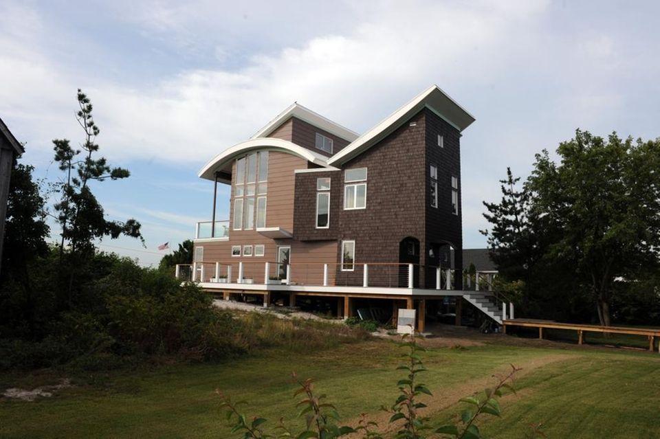 The roof of Jill Kornman's Oak Beach home