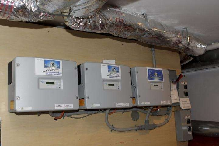 Grid tie inverters in the home of Mark