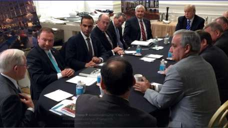 George Papadopoulos, third from left, is seen in