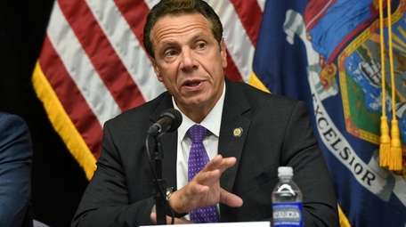 Gov. Andrew M. Cuomo is seen here on