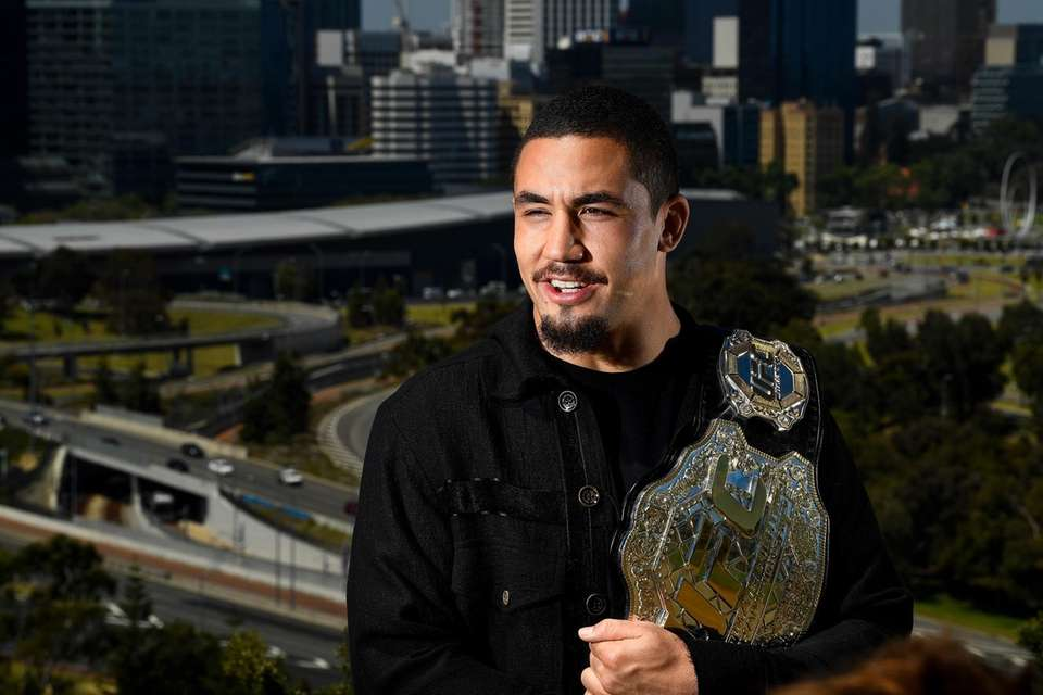 Robert Whittaker won the interim middleweight title with