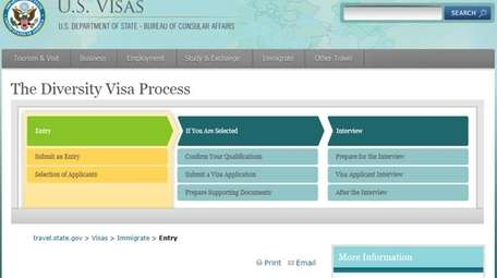 This screenshot shows the U.S. Department of State's