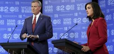 Mayor Bill de Blasio, a Democrat, and candidate