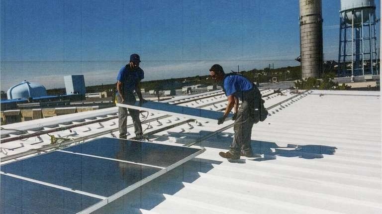Solar panels are added to the roof of