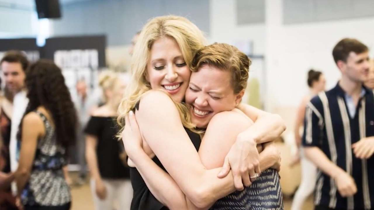 Caissie Levy and Patti Murin, stars of Broadway's