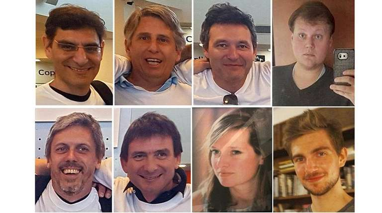 The eight people killed in the Tuesday, Oct.