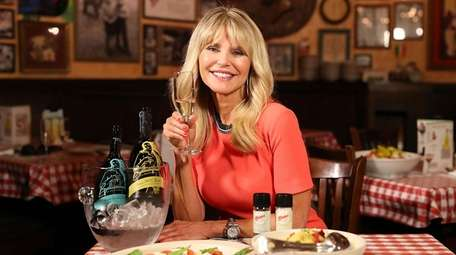 Christie Brinkley at the launch of her