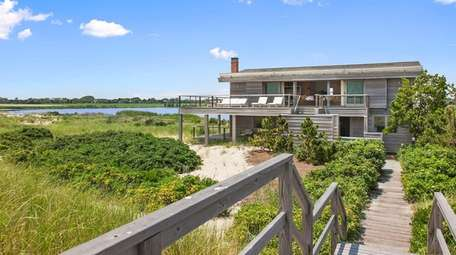 The Wainscott property has 315 feet of beach