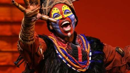 Tshidi Manye plays Rafiki in the Broadway production