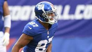 Giants wide receiver Sterling Shepard during a game