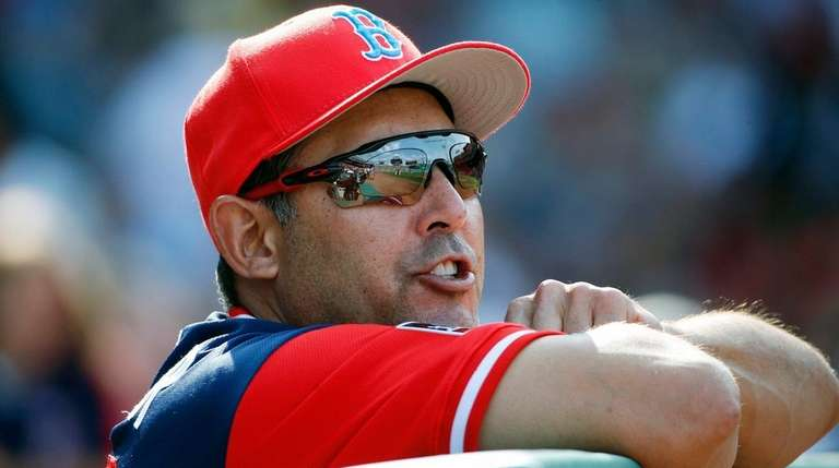 Red Sox first base coach Ruben Amaro Jr.