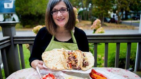 Kerry Fastenau of Massapequa Park shows off her