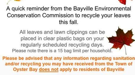 After confusion about a town recycling mailer, the