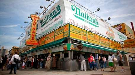 The Coney Island Nathan's in May 2009.